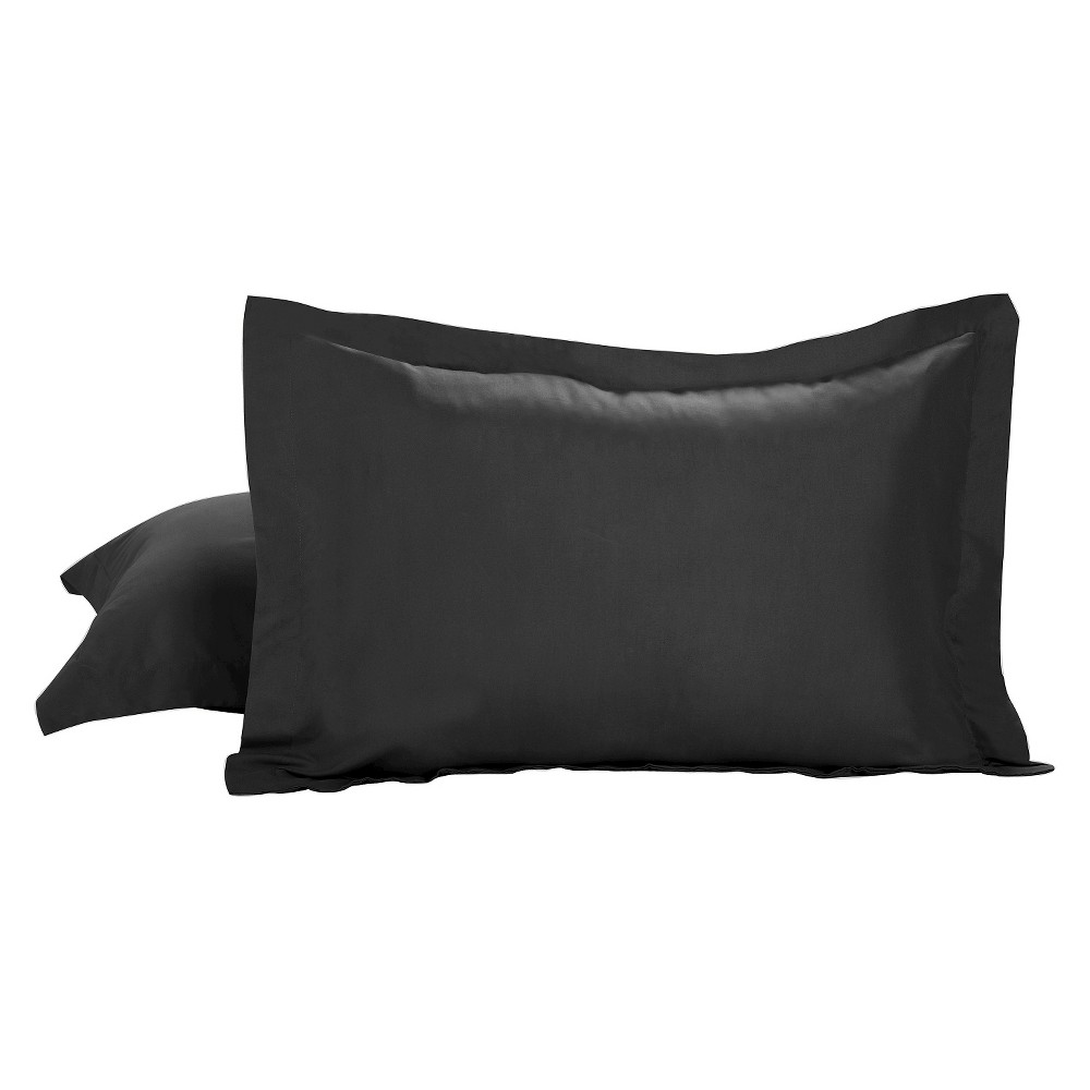 Image of Tailored Bedding Collection Pillow Sham Standard- 2 Piece Black - Tailored Bedding Collection