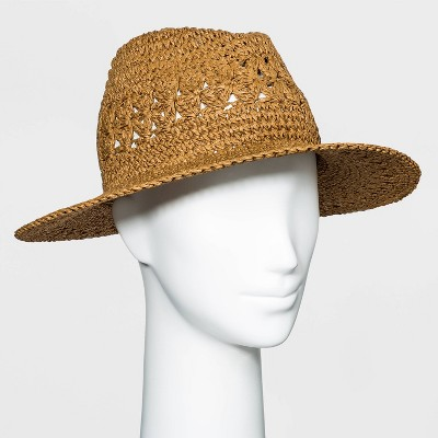 Women's Crocheted Straw Panama Hat - A New Day™