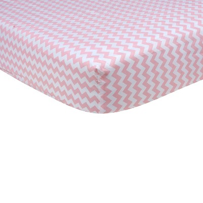 Baby Fitted Sheet Trend Lab Pink