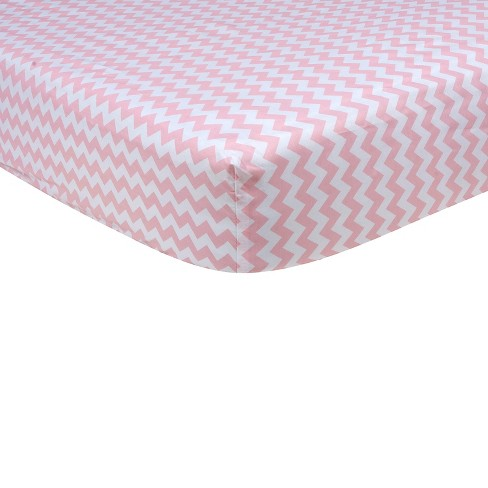 Baby Fitted Sheet Trend Lab Pink - image 1 of 2
