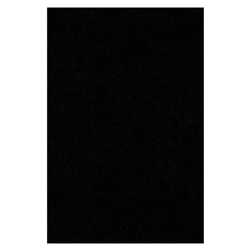 8'x10' Lustrous Shoestring Shag Area Rug Black - Addison Rugs
