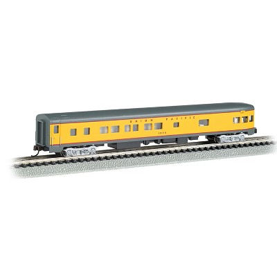 Bachmann Trains 14354 85 Foot Union Pacific Smooth Sided Observation Car, N Scale 1:160 Model Train with Interior Lighting and E-Z Mate Couplers