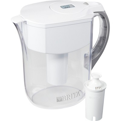 Brita Large 10 Cup BPA Free Water Pitcher with 1 Standard Filter - White