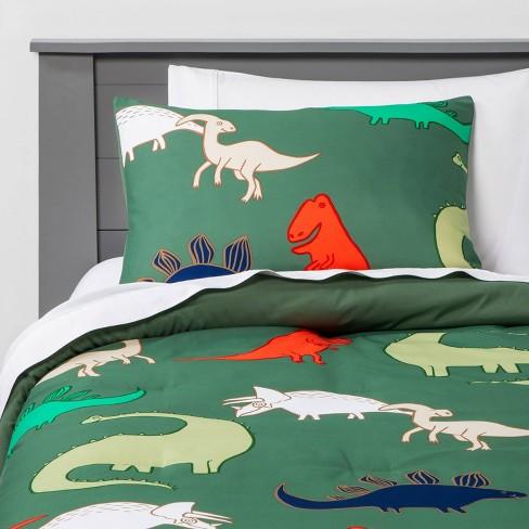 Dinosaur Comforter Set Pillowfort, Queen Size Dinosaur Bedding Set