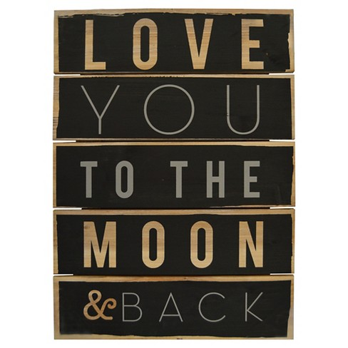 Love You To The Moon And Back Plank Art Pillowfort Target