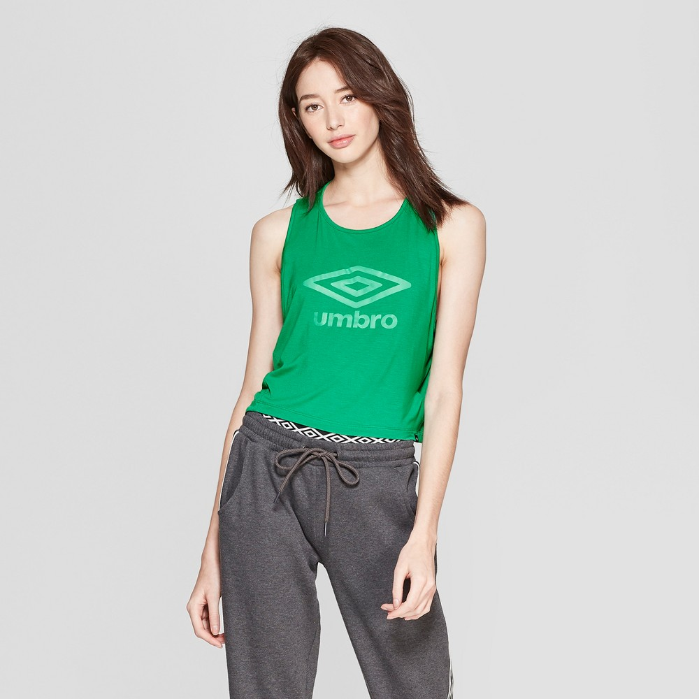 Image of Umbro Women's Muscle Tank - Green/Dark Green XXL