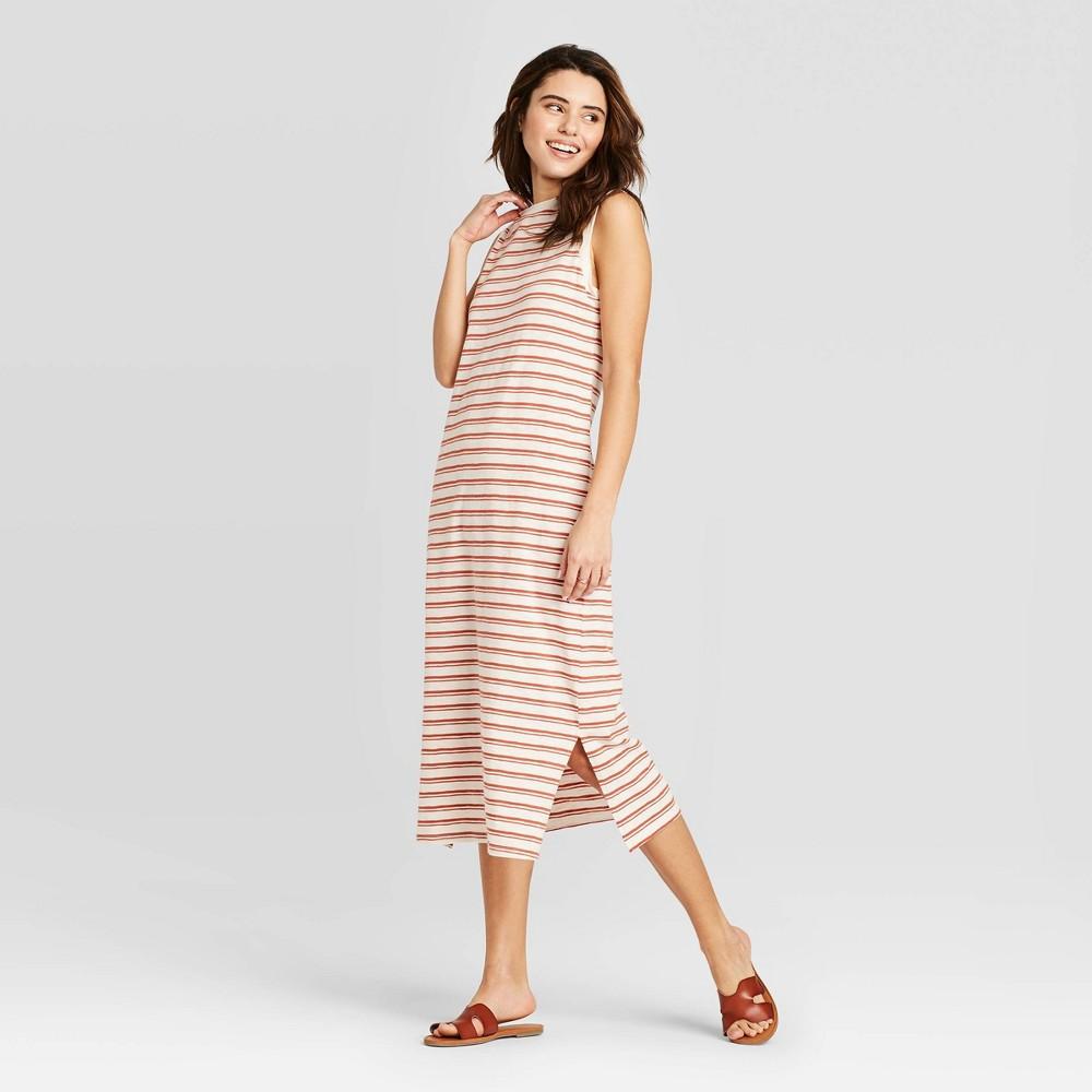 Women 39 S Striped Sleeveless Dress Universal Thread 8482 Pink S