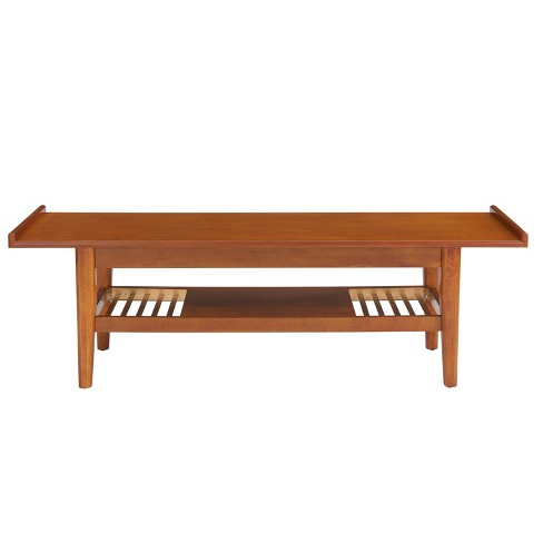 Warden Coffee Table Bench Brown - Aiden Lane - image 1 of 4