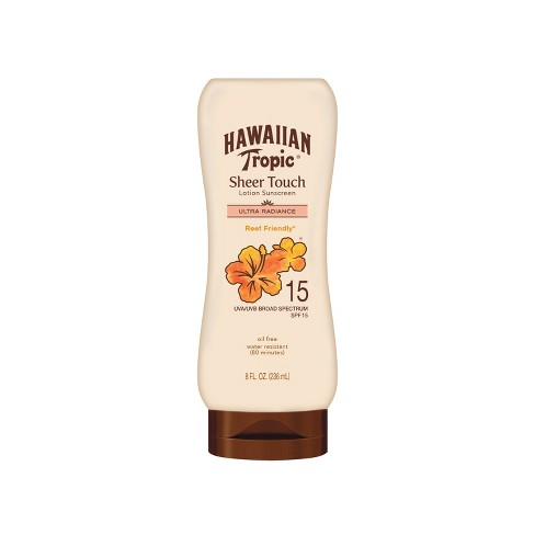 Hawaiian Tropic Sheer Touch Ultra Radiance Lotion Sunscreen - SPF 15 - 8oz - image 1 of 4