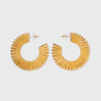 Raffia Hoop Earrings - A New Day™