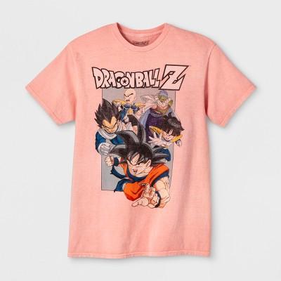 Men's Dragon Ball Z Short Sleeve Graphic T-Shirt - Salon Pink M