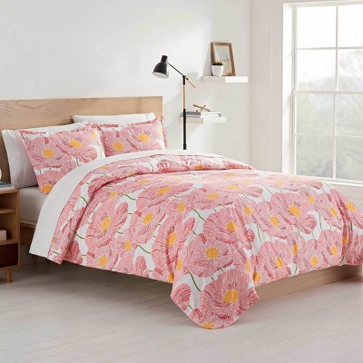 Color Solutions Path of Poppies Comforter Set - Martex
