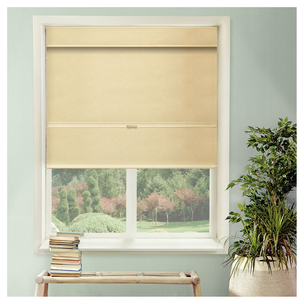 "Image of ""Chicology Cordless Magnetic Roman Shades Mountain Almond (33""""X 64""""), Almond Paste"""