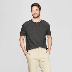 Men's Regular Fit Short Sleeve Henley Shirt - Goodfellow & Co™ Deep Charcoal