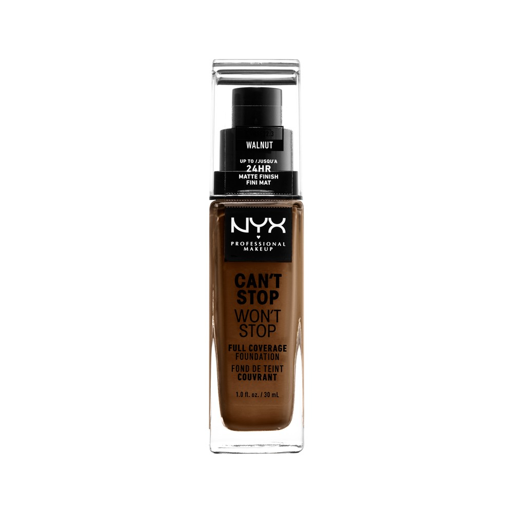 Nyx Professional Makeup Can't Stop Won't Stop Full Coverage Foundation Walnut (Brown) - 1.3 fl oz