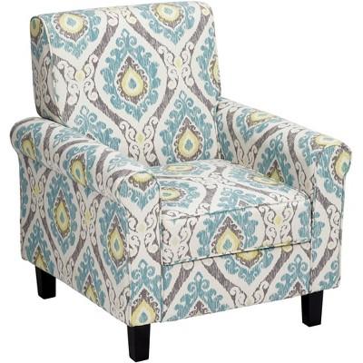 Studio 55D Lansbury Multi-Color Ikat Print Fabric Accent Chair