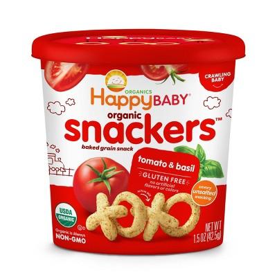 HappyBaby Tomato Basil Baby Snacks - 1.5oz