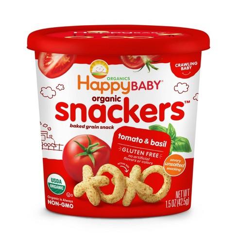 HappyBaby Tomato Basil Baby Snacks - 1.5oz - image 1 of 3