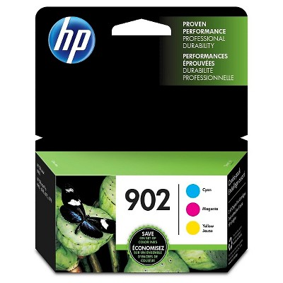 HP 902 C/M/Y 3pk Ink Cartridges - Cyan, Magenta, Yellow (T0A38AN#140)