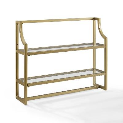 Aimee Wall Shelf Gold - Crosley