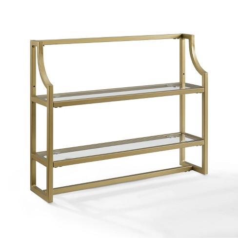 Aimee Wall Shelf Gold - Crosley - image 1 of 4