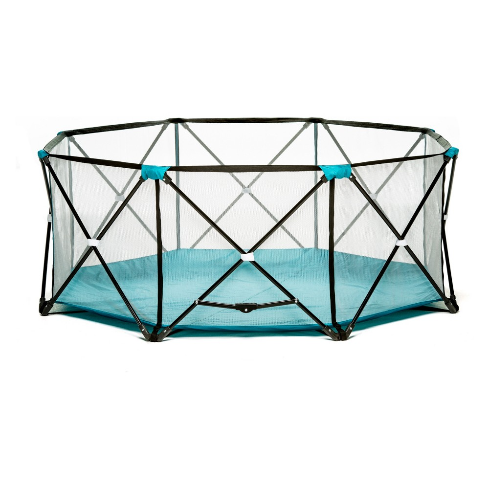Image of Eight Panel My Play Portable Playard, Blue
