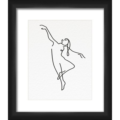"""13"""" x 15"""" Matted to 2"""" Dancing Art Picture Frame Black - PTM Images"""