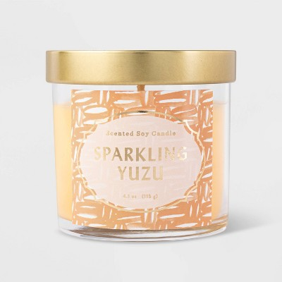 4.1oz Lidded Glass Jar Sparkling Yuzu Candle - Opalhouse™