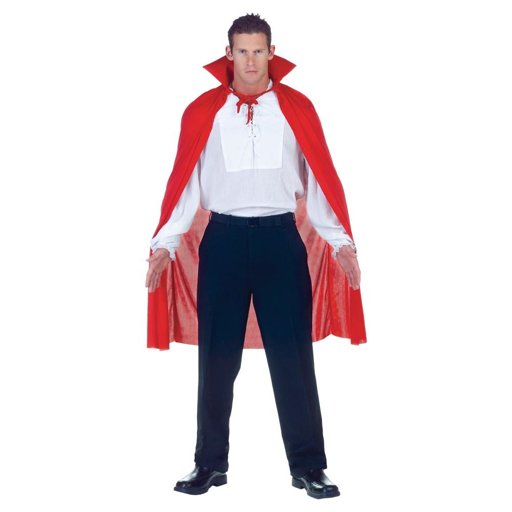 Adult Cape Costume Red, Men's, Multi-Colored