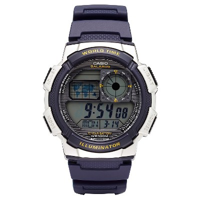 Casio Men's World Time Watch - Blue (AE1000W-2AVCF)