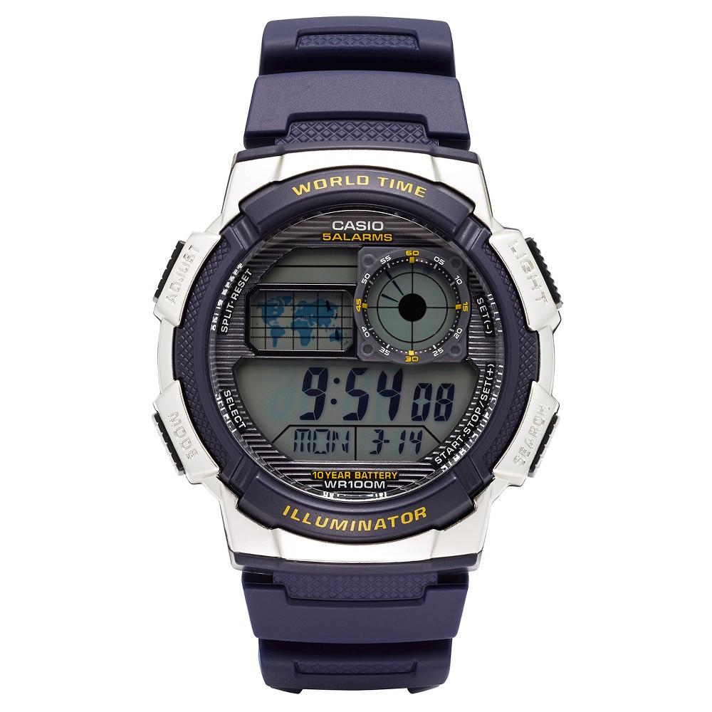 Casio Men S World Time Watch Blue Ae1000w 2avcf