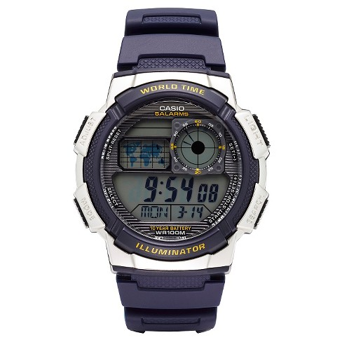 Casio Men's World Time Watch - Blue (AE1000W-2AVCF) - image 1 of 2