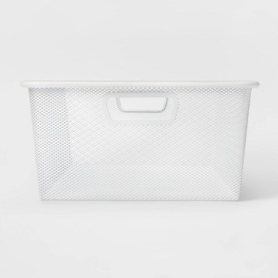 Large 6.25X 12.75X 25.75 Metal Underbed Bin White - Made By Design™