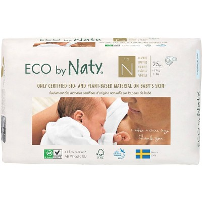 Eco By Naty 4pk Premium Disposable Diapers for Sensitive Skin - Newborn (100ct)
