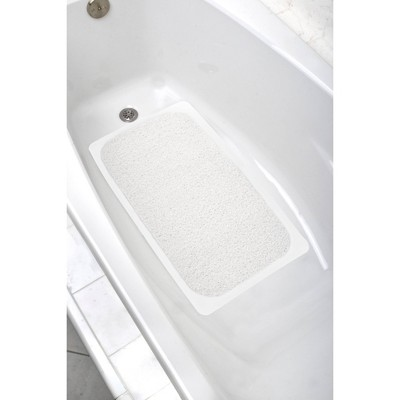 """17""""x29"""" Skid-Resistant Ultimate Loofah Tub Mat White - Zenna Home"""