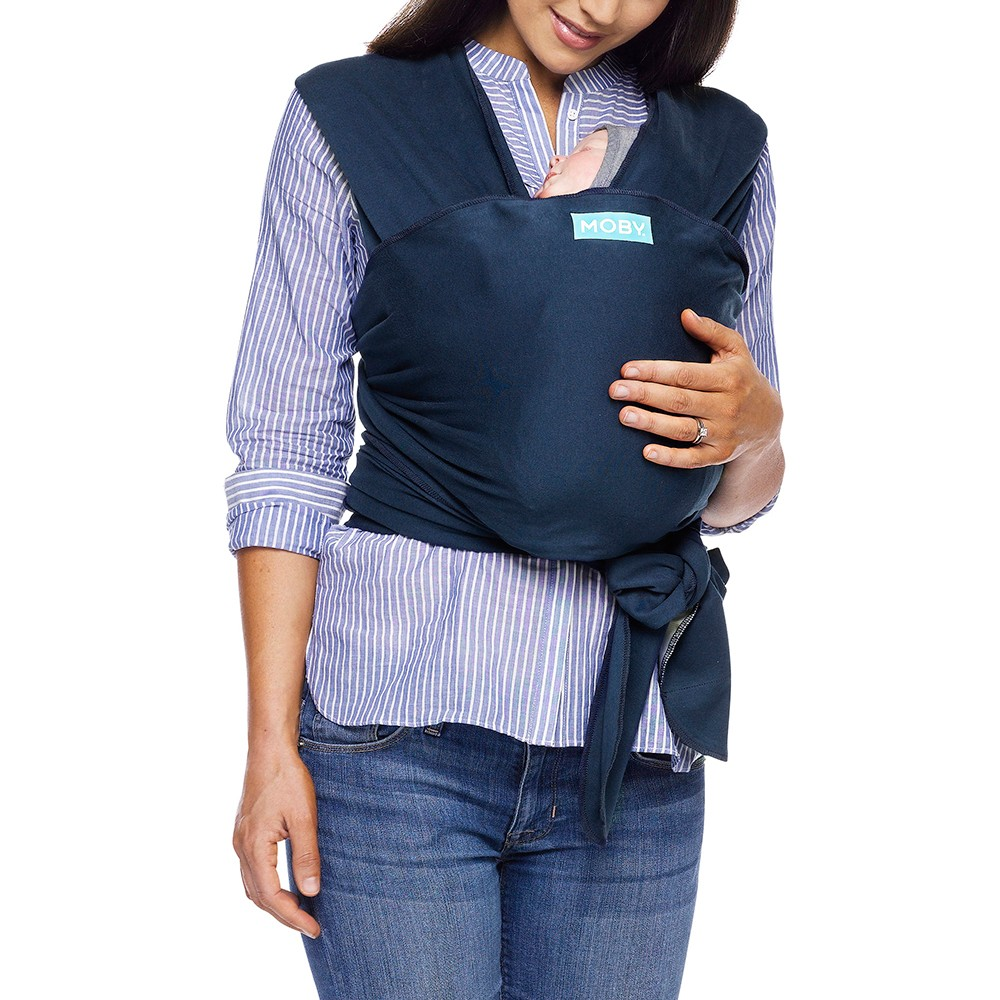 Image of Moby Classic Wrap Baby Carrier - Midnight, Black