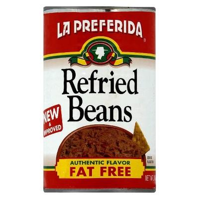 Beans: La Preferida Fat-Free Refried Beans