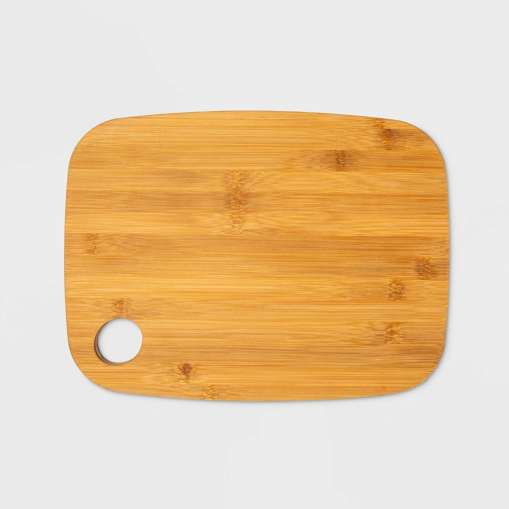 "Image of ""10""""x13"""" Bamboo and Poly Flip Cutting Board - Made By Design , White"""