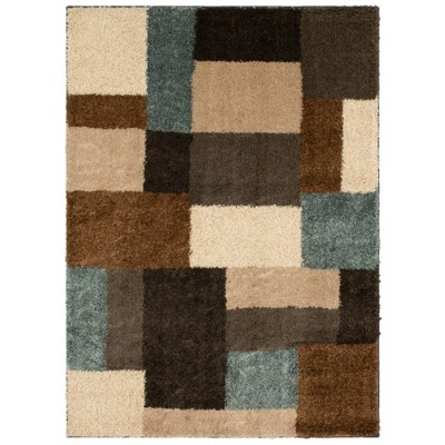 Franklin Shag Area Rug Tan/Blue - Mohawk