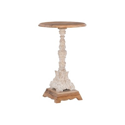 Sanita Side Table Antiqued White - Powell Company