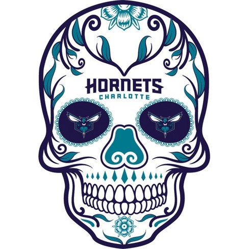 nba charlotte hornets small outdoor skull decal target
