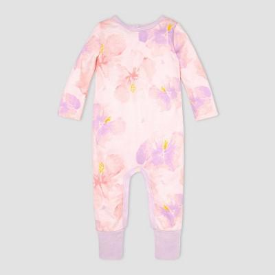 Burt's Bees Baby® Baby Girls' Aloha Hibiscus Jumpsuit - Pink/Purple