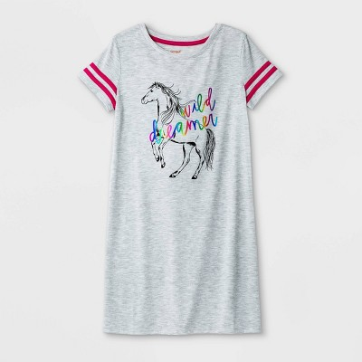 Girls' Horse Nightgown - Cat & Jack™ Gray