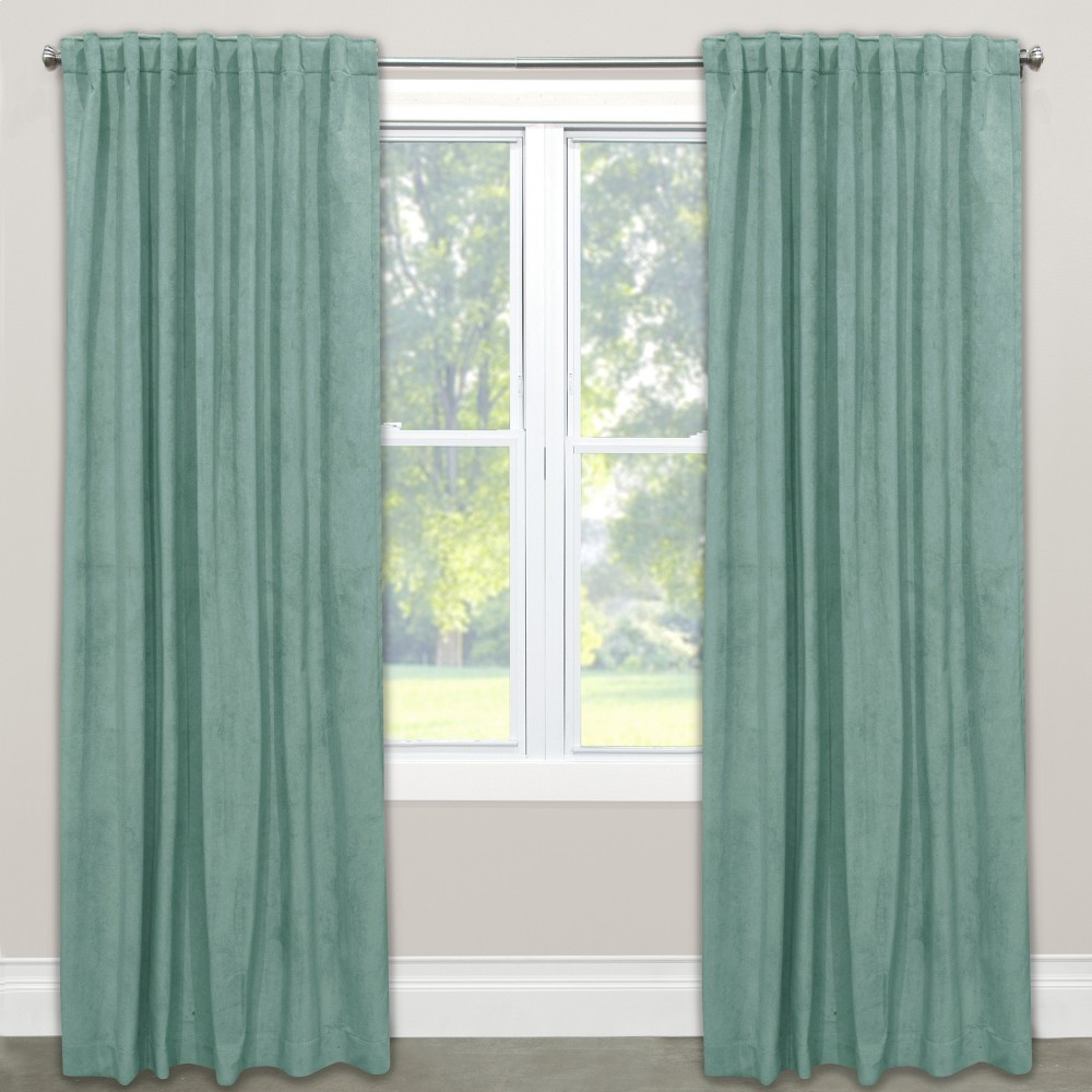 Velvet Unlined Window Curtain Panel - Skyline Furniture (50