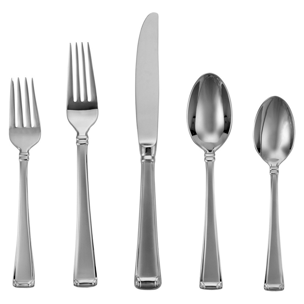 Image of Gorham Column Frosted 5-pc. Silverware Set