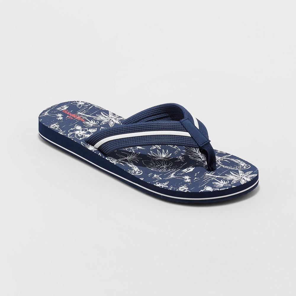 Men's Ronnie Flip Flop Sandals - Goodfellow & Co Deep Navy M, Blue