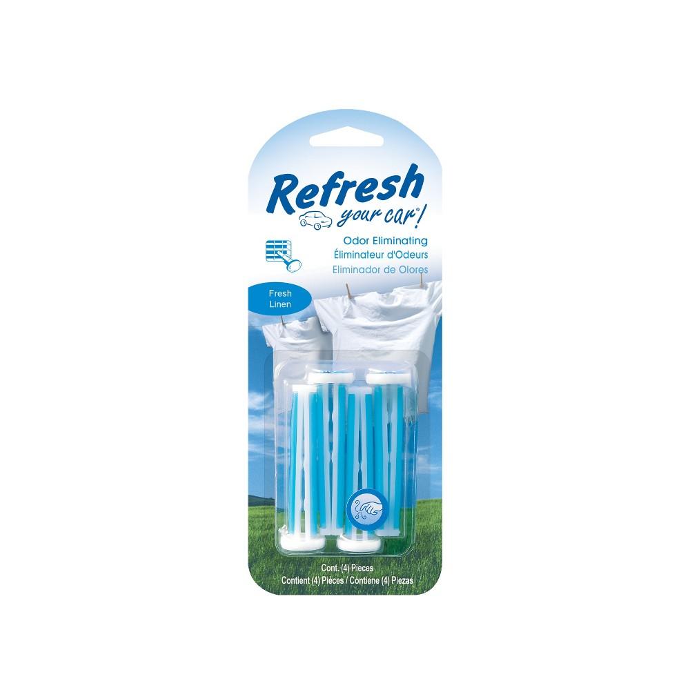 Refresh Your Car Fresh Linen 4pk Vent Sticks, Blue