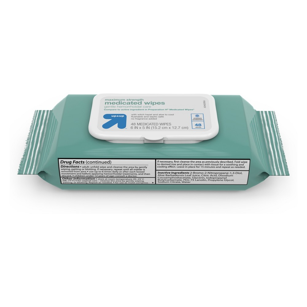 Medicated Hemorrhoid Wipes 48ct Up 38 Up 8482