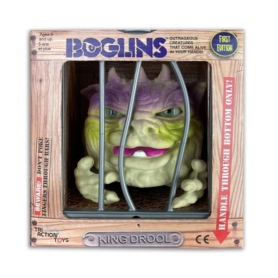 TriAction Toys Boglins 8-Inch Foam Monster Puppet | King Drool