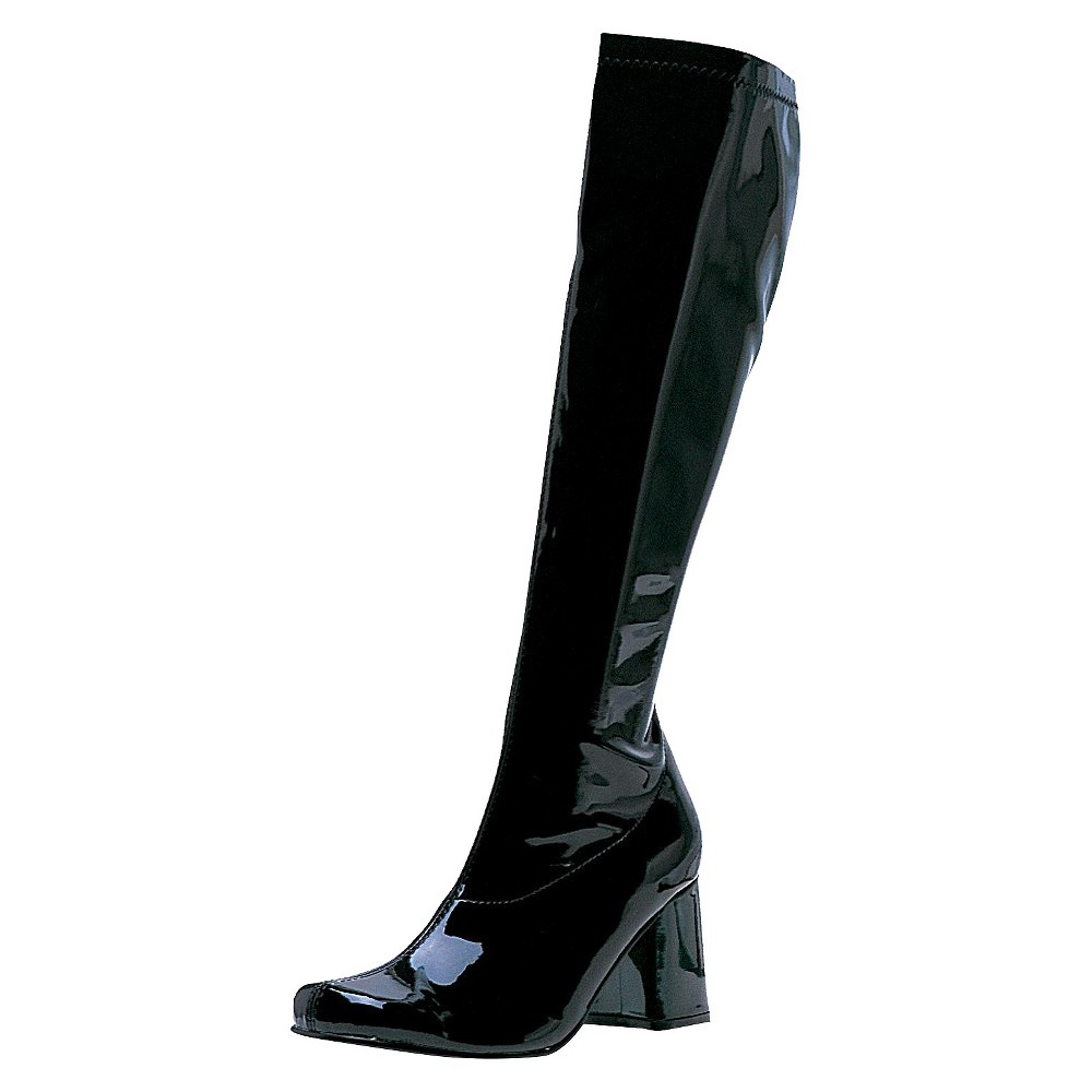 Adult Gogo Boots Black Costume Size 7, Women's, Size: 7.0